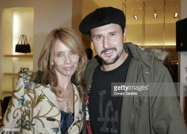 Rosanna Arquette and David Arquette during Max Mara and Town Country Host HEART at Max Mara Store in Beverly Hills California United States