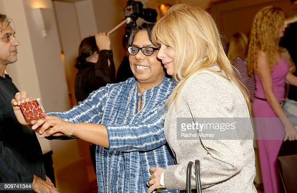 Rosanna Arquette and Founder and President of Apne Aap Women Worldwide Ruchira Gupta attend the Visionary Women Salon Stories and Solutions at...