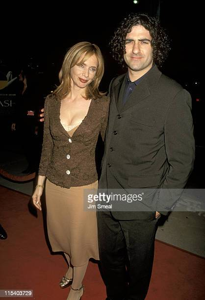 Rosanna Arquette and Husband John Sidel during Premiere of Crash at Los Angeles in Los Angeles CA United States