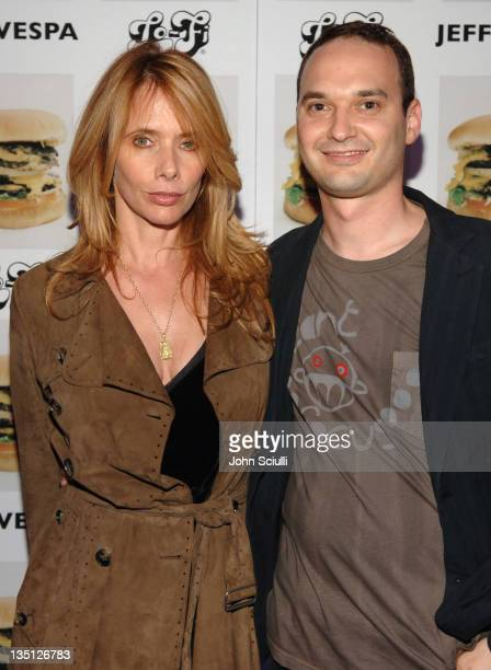 Rosanna Arquette and Jeff Vespa during Jeff Vespa's Eat Me Art Show Opening at The Gallery at LoFi in Los Angeles California United States