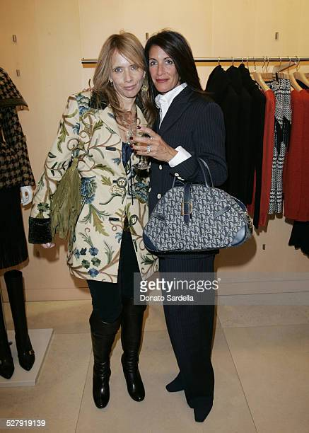 Rosanna Arquette and Kathy Winterstern during Max Mara and Town Country Host HEART at Max Mara Store in Beverly Hills California United States