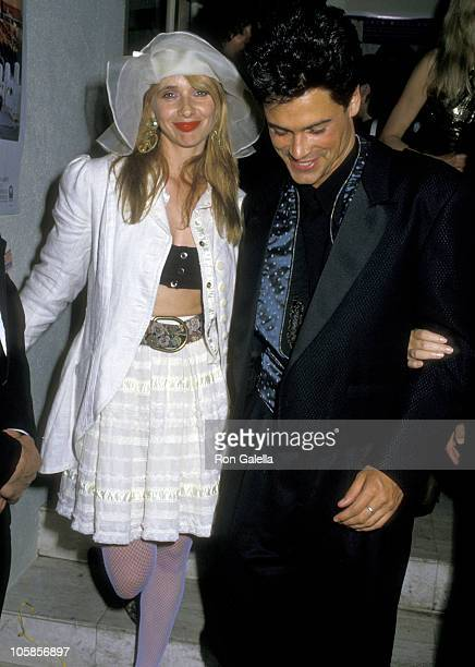 Rosanna Arquette and Rob Lowe during 60th Annual Academy Awards at Shrine Auditorium in Los Angeles CA United States