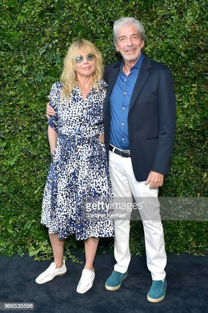 Rosanna Arquette and Todd Morgan attend Chanel Dinner Celebrating our Majestic Oceans A Benefit for NRDC at Private Residence on June 2 2018 in...