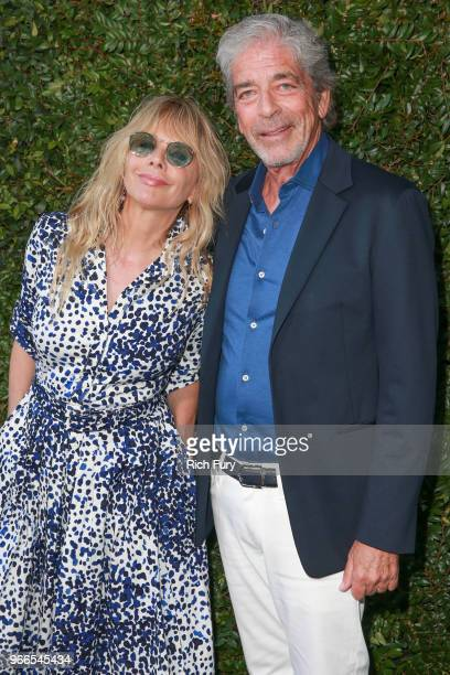 Rosanna Arquette and Todd Morgan attend the CHANEL Dinner Celebrating Our Majestic Oceans A Benefit For NRDC on June 2 2018 in Malibu California