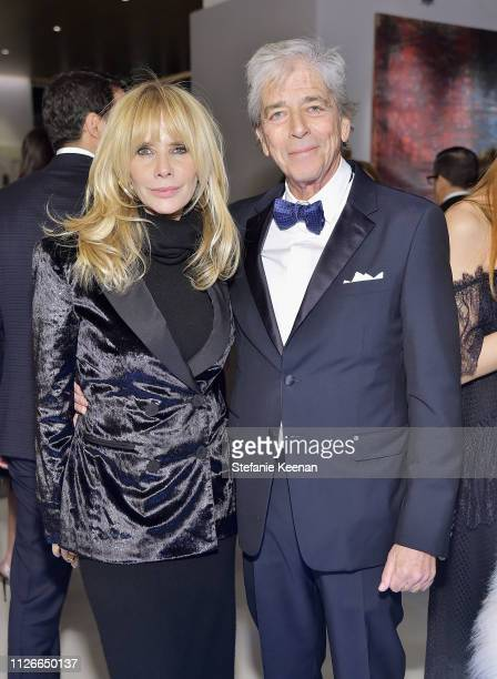 Rosanna Arquette and Todd Morgan attend the UCLA IoES honors Barbra Streisand and Gisele Bundchen at the 2019 Hollywood for Science Gala on February...