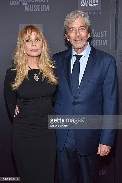 Rosanna Arquette and Todd Morgan attend the United States Holocaust Memorial Museum presents 2016 Los Angeles Dinner What You Do Matters at The...