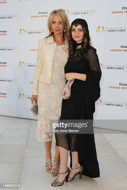 Rosanna Arquette and Zoe Blue attend 'Orange Cinema Serie Party' at the MonteCarlo Bay Hotel Resort during the 52nd Monte Carlo TV Festival on June...
