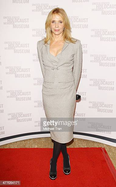 Rosanna Arquette arrives at the United States Holocaust Memorial Museum presents '2014 Los Angeles Dinner What You Do Matters' held at The Beverly...
