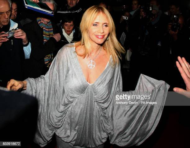 Rosanna Arquette arrives for the press night of Desperately Seeking Susan at The Novello Theatre The Aldwych in London