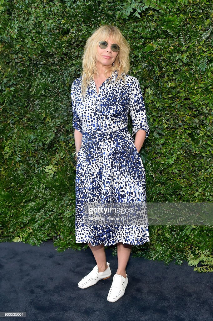 Rosanna Arquette attends Chanel Dinner Celebrating our Majestic Oceans, A Benefit for NRDC at Private Residence on June 2, 2018 in Malibu, California.