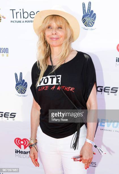 Rosanna Arquette attends the 8th Annual Pedal On The Pier Fundraiser at Santa Monica Pier on June 3 2018 in Santa Monica California