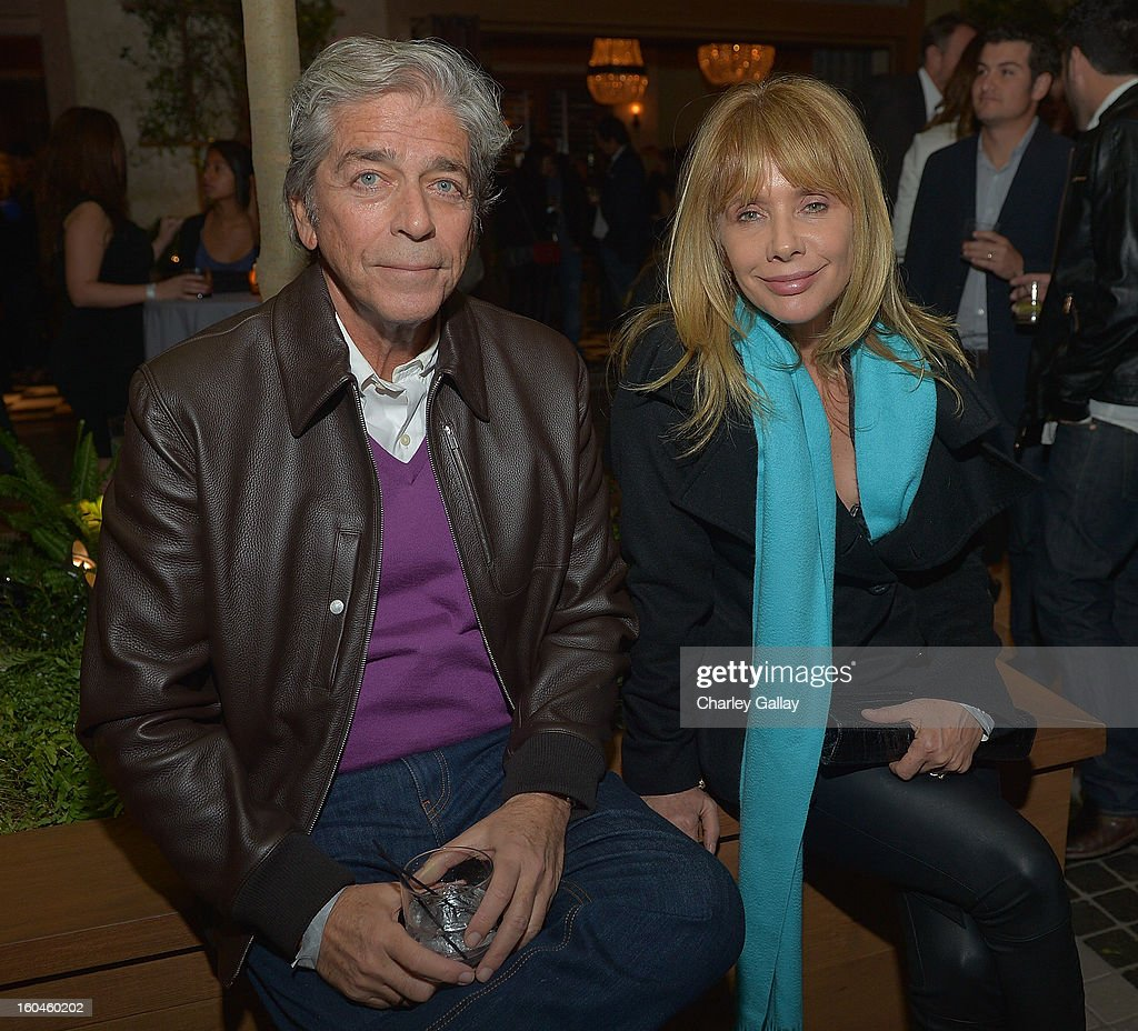 Rosanna Arquette (R) attends the Grand Opening of RivaBella Ristorante on January 31, 2013 in West Hollywood, California.