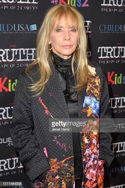 Rosanna Arquette attends the Premiere of 'My Truth: The Rape Of Two Coreys' at Directors Guild Of America on March 09, 2020 in Los Angeles,...