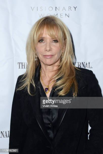 Rosanna Arquette attends Visionary Women's International Women's Day Honoring Patricia and Rosanna Arquette at Spago on March 7, 2019 in Beverly...