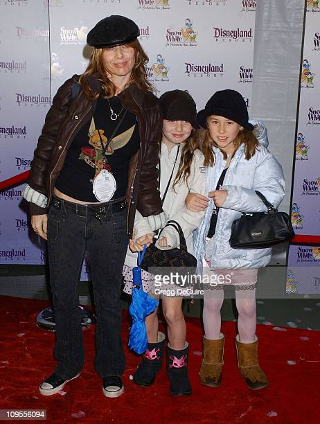 Rosanna Arquette daughter Zoe and friend during 'Snow White An Enchanting New Musical' Premiere Arrivals at Fantasyland Theatre at Disneyland in...