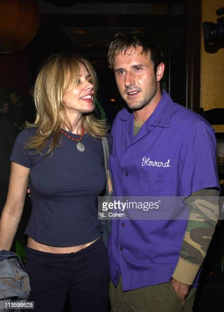 Rosanna Arquette David Arquette during Premiere of Lucky Strike Lanes Bowling Lounge at Lucky Strike Lanes in Hollywood California United States