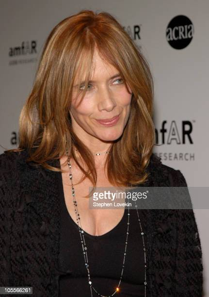 Rosanna Arquette during amfAR and ACRIA Honor Herb Ritts with a Sale of Contemporary Artwork at Sotheby's in New York City, New York, United States.