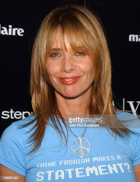 Rosanna Arquette during A/X Armani Exchange, Marie Claire Magazine and Kodak Supporting The Step Up Women's Network - Arrivals at A/X Armani Exchange...