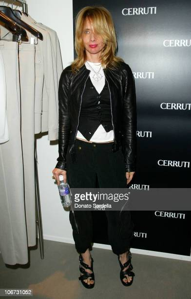 Rosanna Arquette during Cerruti and David Cardona CoHost Private Party to Celebrate the Opening of Cerruti Beverly Hills Benefiting OPCC at Cerruti...