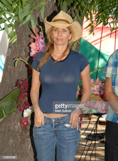 Rosanna Arquette during Daryl Hannah Protests the Closing of South Central Los Angeles Farm in Los Angeles California United States