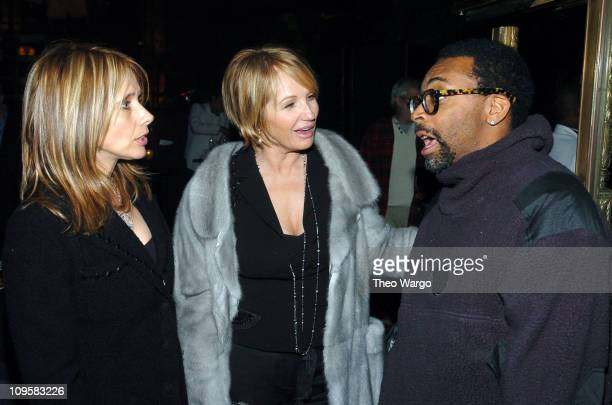 "Rosanna Arquette, Ellen Barkin and Spike Lee during ""Raging Bull"" 25th Anniversary and Collector's Edition DVD Debut - After Party at Cipriani in New..."