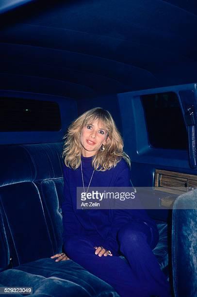 Rosanna Arquette in a limousine; circa 1970; New York.
