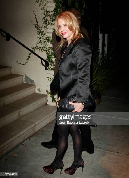Rosanna Arquette is seen in West Hollywood on March 1 2010 in Los Angeles California