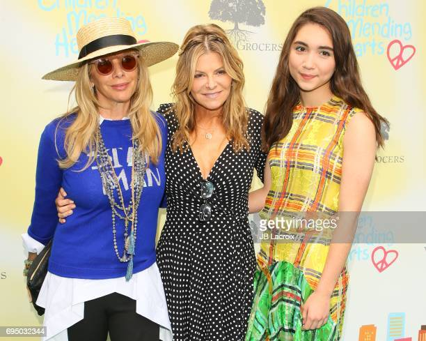 Rosanna Arquette Lysa Hayland Heslov and Rowan Blanchard attend the Children Mending Hearts 9th Annual Empathy Rocks Fundraiser on June 11 2017 in...