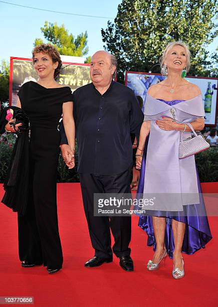 Rosanna Banfi Lino Banfi and Barbara Bouchet attend the Opening Ceremony and Black Swan premiere during the 67th Venice Film Festival at the Sala...