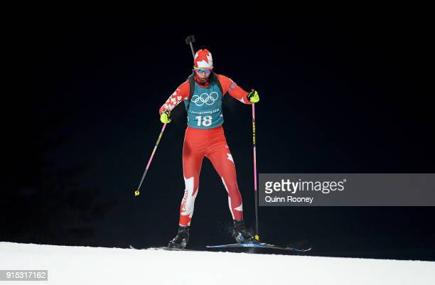 Rosanna Crawford of Canada in action during Biathlon Women's 75km Sprint Official Training ahead of the PyeongChang 2018 Winter Olympic Games at...