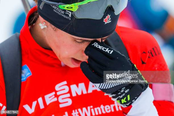 Rosanna Crawford of Canada in action during the IBU Biathlon World Cup Men's and Women's Mass Start on January 14 2018 in Ruhpolding Germany