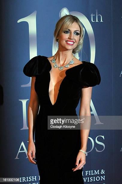 Rosanna Davison attends the Irish Film and Television Awards at Convention Centre Dublin on February 9 2013 in Dublin Ireland