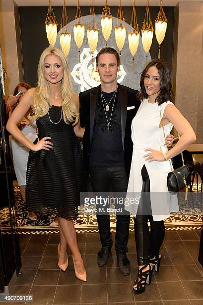 Rosanna Davison CBO John Schluter and Frankie Bridge attend the Thomas Sabo Professional Player Magazine Cocktail Collection Launch on September 30...