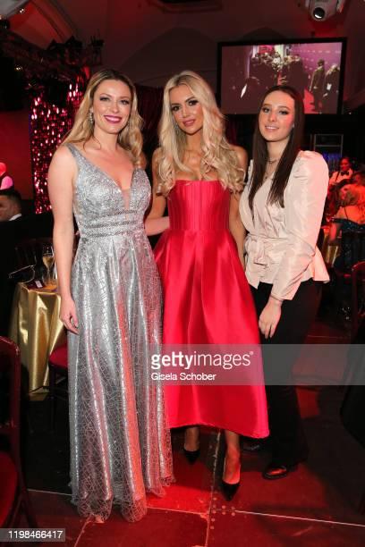 "Rosanna Davison, daughter of Chris de Burg, Kiera Chaplin and her sister India Chaplin Van Diessen during the Lambertz Monday Night 2020 ""Wild..."