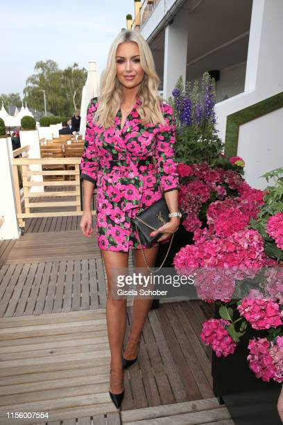 Rosanna Davison, daughter of Chris de Burgh and guest of Hermann Buehlbecker, during the CHIO 2019 Media Night on July 16, 2019 in Aachen, Germany.
