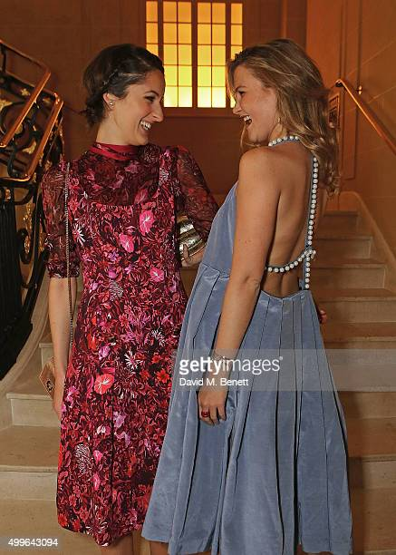 Rosanna Falconer and Amber Atherton attend the unveiling of a very special Malone Souliers Christmas tree, in support of Starlight Children's...