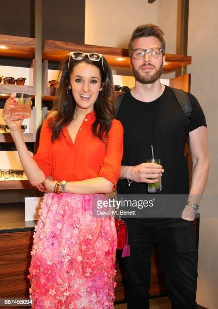 Rosanna Falconer and Rick Edwards attend Oliver Peoples' 30th anniversary party on May 23 2017 in London England