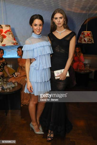 Rosanna Falconer and Sabrina Percy attend The BARDOU Foundation's International Women's Day IWD private dinner at The Hospital Club on March 8 2018...