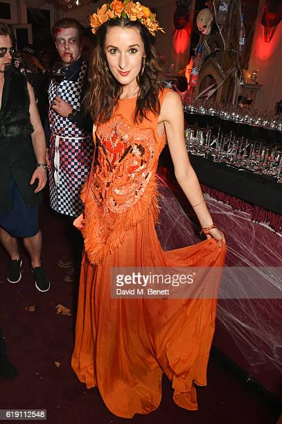 Rosanna Falconer attends Halloween at Annabel's at 46 Berkeley Square on October 29 2016 in London England