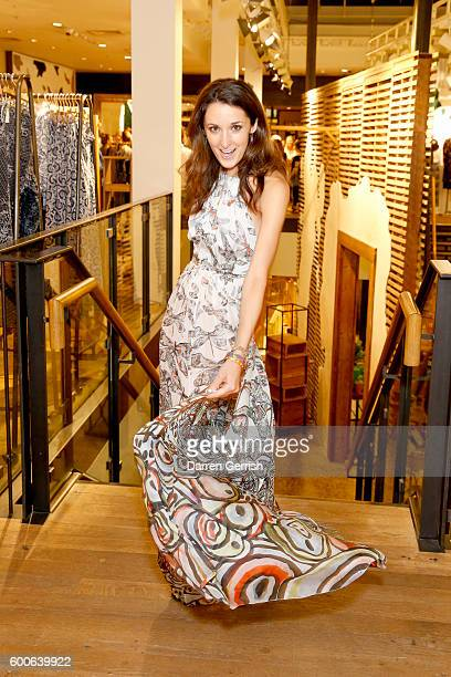 Rosanna Falconer attends the book launch of Matthew Williamson Fashion Print Colouring by Laurence King Publishing at Anthropologie on September 8...