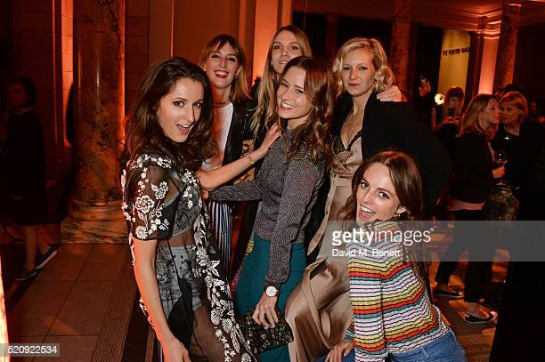 Rosanna Falconer Lady Alice Manners Georgie Macintyre Kelly Eastwood Savannah Miller and Lady Violet Manners attend a private view of new exhibition...
