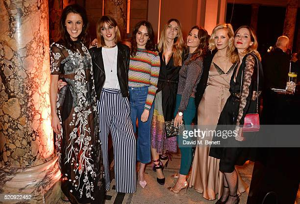 Rosanna Falconer Lady Alice Manners Lady Violet Manners Georgie Macintyre Kelly Eastwood Savannah Miller and Sienna Guillory attend a private view of...