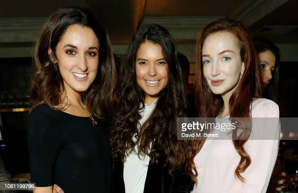 Rosanna Falconer Sarah Ann Macklin and Olivia Grant attend the Elephant Family 'From India With Love' Dinner at Gymkhana on November 13 2018 in...
