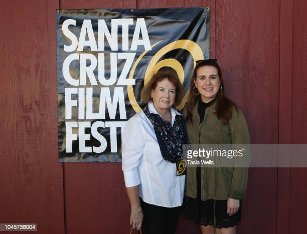 Rosanna Hughes and Annarose Hughes attend the 2018 Santa Cruz Film Festival on October 4 2018 in Santa Cruz California