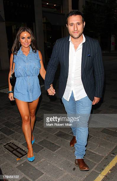 Rosanna Jasmin and Antony Costa attending the Rock Your Jeans party at the Jewel Bar on September 3 2013 in London England