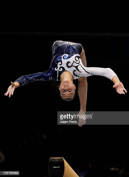 Rosanna Ojala of Finland performs on the Beam aparatus in the Women's Qualification during the day one of the Artistic Gymnastics World Championships...