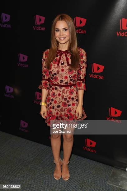 Rosanna Pansino attends the 9th Annual VidCon at Anaheim Convention Center on June 20 2018 in Anaheim California