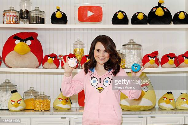 Rosanna Pansino attends the Angry Birds Stella launch at Little Cupcake Bakeshop on April 26 2014 in New York City