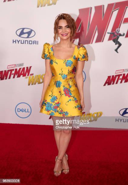 Rosanna Pansino attends the premiere of Disney And Marvel's AntMan And The Wasp on June 25 2018 in Los Angeles California