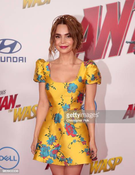 Rosanna Pansino attends the premiere of Disney And Marvel's 'AntMan And The Wasp' on June 25 2018 in Los Angeles California